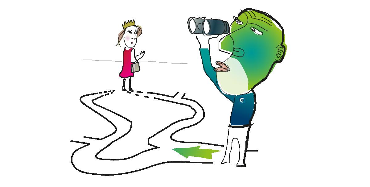 Illustration zum Thema Vertrieb für die Website www.beziehungskapital.com der Unternehmensberatung Johanssen & Kretschmer